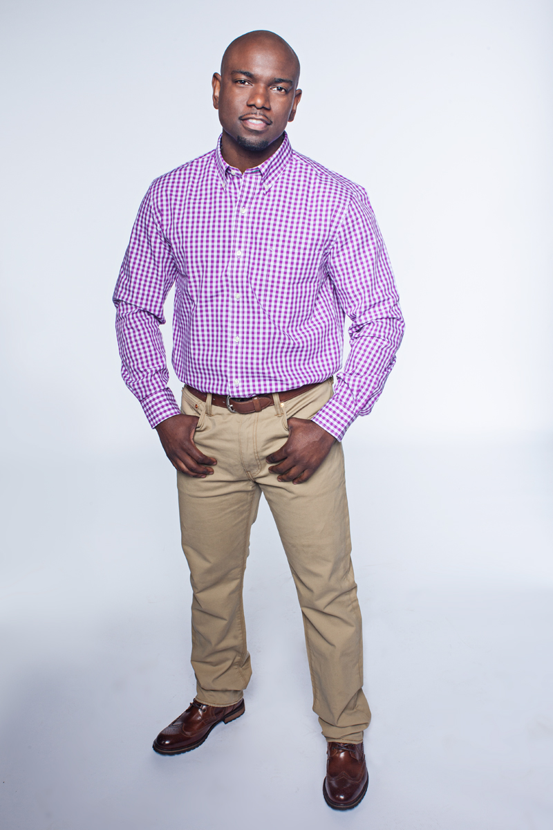 Purple and white business casual wear black men 39 s dossier for Black shirt business casual