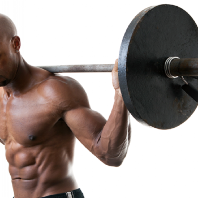 Black Man Lifting Weights