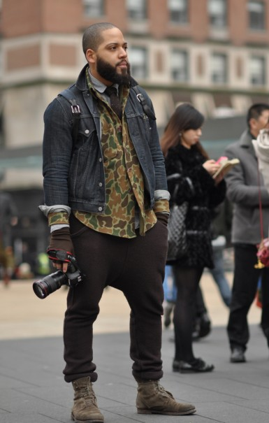Menswear Blogger Justin Bridges in Camo via Dapper Lou