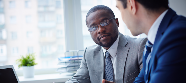 African American Meeting Business Elevator Pitch